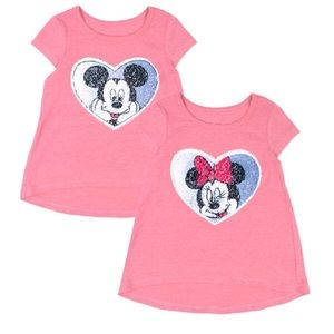 Disney Two-Way Sequin T-Shirt Mickey/Minnie Mouse
